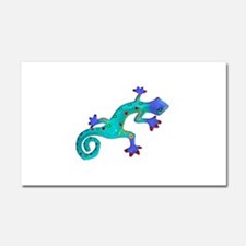 Turquoise Lizard with Red Toes Car Magnet 20 x 12