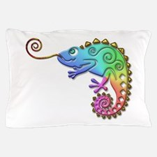 Cool Colored Chameleon Pillow Case