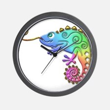 Cool Colored Chameleon Wall Clock
