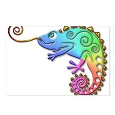 Cool Colored Chameleon Postcards (Package of 8)