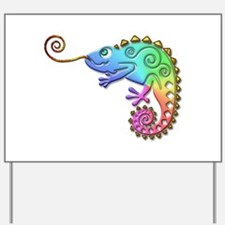Cool Colored Chameleon Yard Sign