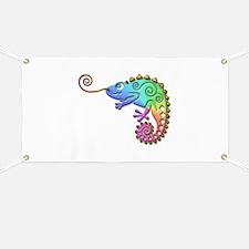 Cool Colored Chameleon Banner