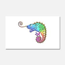 Cool Colored Chameleon Car Magnet 20 x 12