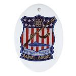 PRD Daniel Boone Patch Oval Ornament