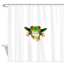 Colorful Tree Frog Shower Curtain