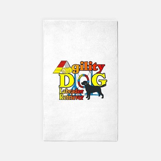Labrador Retriever Agility Area Rug