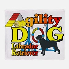 Labrador Retriever Agility Throw Blanket