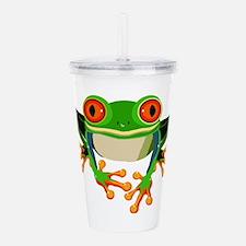 Colorful Tree Frog Acrylic Double-wall Tumbler