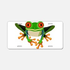 Colorful Tree Frog Aluminum License Plate