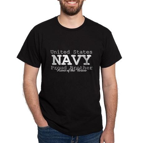 Proud Navy Brother Dark T-Shirt