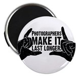 "Photographers Make It Last Lo 2.25"" Magnet (10 pac"