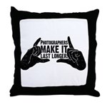 Photographers Make It Last Lo Throw Pillow