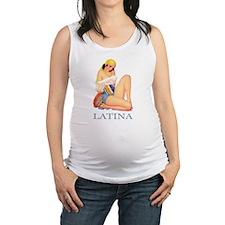 LATINA BLUE.png Maternity Tank Top