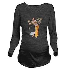 1 Snake Charmer.png Long Sleeve Maternity T-Shirt