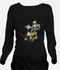 Hummingbird026 copy.png Long Sleeve Maternity T-Sh