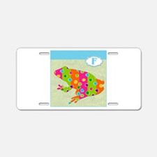 F is for Frog.png Aluminum License Plate