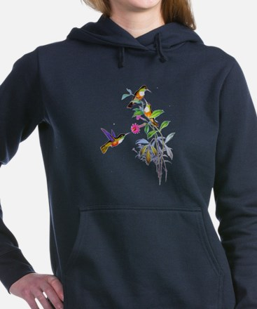 Hummingbird001 copy.png Women's Hooded Sweatshirt