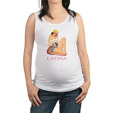 LATINA PINK.png Maternity Tank Top