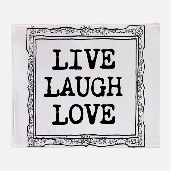 Live laugh love Throw Blanket