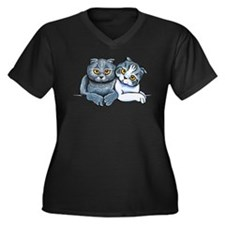 Scottish Fold Pair Plus Size T-Shirt