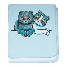 Scottish Fold Pair baby blanket