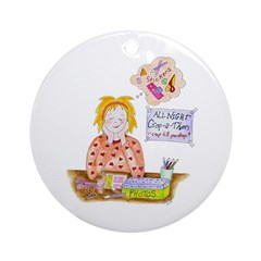Scrapbooking Crop-a-thon Ceramic Ornament (Round)