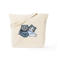 Scottish Fold Pair Tote Bag