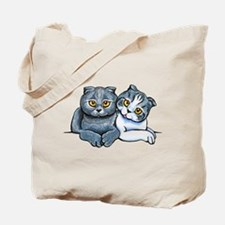 Scottish Fold Pair Tote Bag