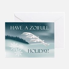 Borzoi Winter Holiday Card Greeting Cards