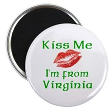 "Kiss Me I'm from Virginia 2.25"" Magnet (10 pack)"