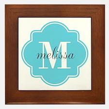 Turquoise Custom Personalized Monogram Framed Tile