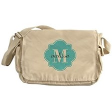 Turquoise Custom Personalized Monogr Messenger Bag