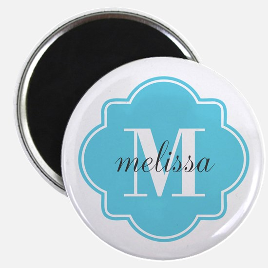 "Turquoise Custom Personaliz 2.25"" Magnet (10 pack)"