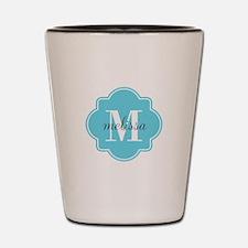Turquoise Custom Personalized Monogram Shot Glass