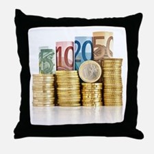 euro currency Throw Pillow