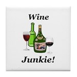 Wine Junkie Tile Coaster