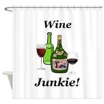 Wine Junkie Shower Curtain