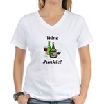 Wine Junkie Women's V-Neck T-Shirt