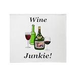 Wine Junkie Throw Blanket
