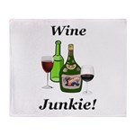 Wine Junkie Throw Blanket