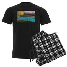 Abstract Sierra Sunrise pajamas