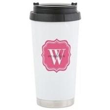 Pink Custom Personalize Travel Mug