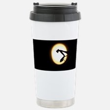 Praying Mantis Silhouette Travel Mug