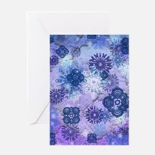 Scattered Snow Greeting Cards