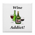 Wine Addict Tile Coaster