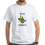 Wine Addict White T-Shirt