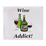Wine Addict Throw Blanket