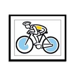 Cyclist Framed Panel Print