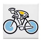 Cyclist Tile Coaster