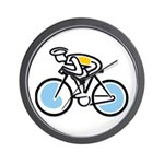 Cyclist Wall Clock